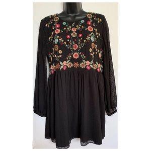 Zara Trafaluc boho flower dress